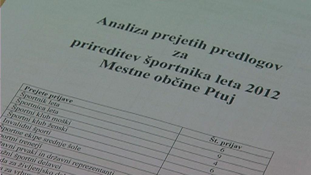 Sestala se je komisija za izbor Športnika leta 2012 v MO Ptuj!