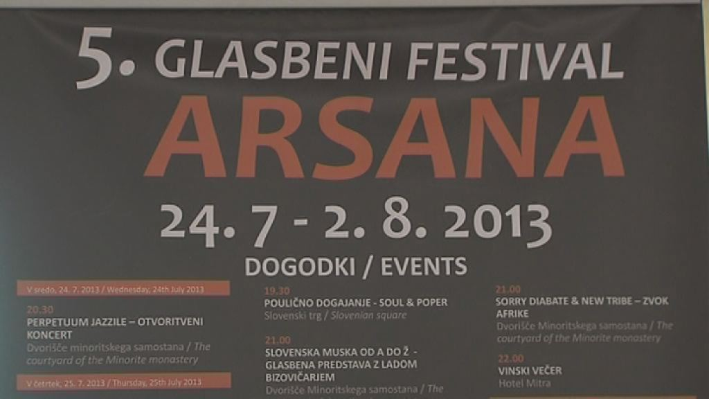 arsana festival napoved