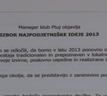 Razpis za izbor Najpodjetniške ideje 2013