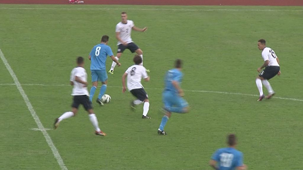 Nogometna tekma med Slovenijo in Anglijo na Ptuju