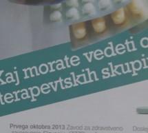 Malce strahu pred uvedbo 2. skupine terapevtskih zdravil