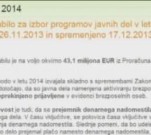 Program javnih del v letu 2014