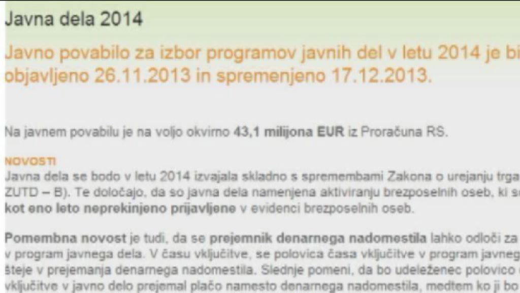 javna dela 2014