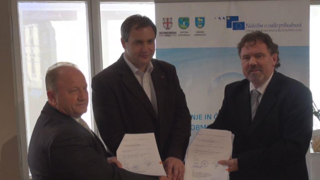 Podpis pogodbe za drugo fazo kanalizacije