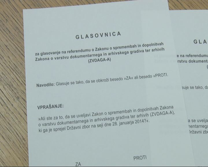 Glasovnica iz referenduma