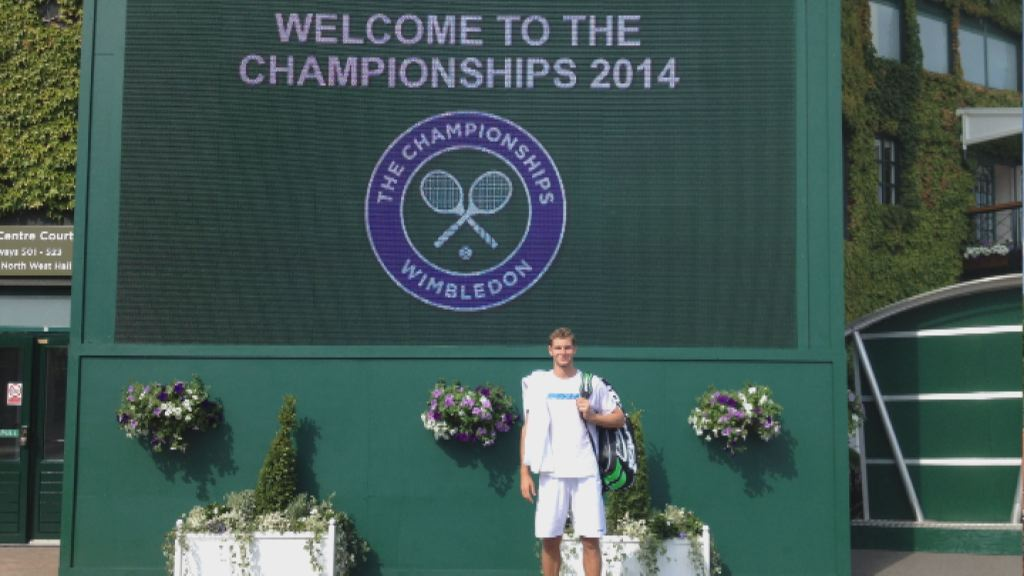 Blaz Rola v Wimbledonu
