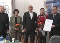 Svečana listina AVP za OŠ Mladika