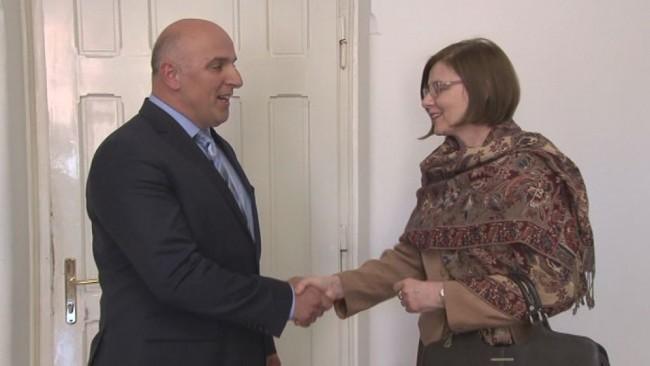 Veleposlanica Republike Madžarske v Sloveniji na pogovorih na Ptuju