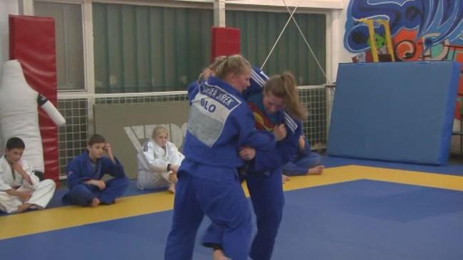 Nika Šlamberger je tekmovala na kadetskem evropskem prvenstvu v judu