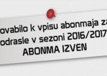 Vpis abonmajev MGP v sezoni 2016/2017