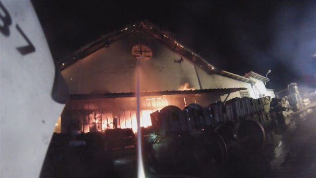 Dva velika požara na Ptuju