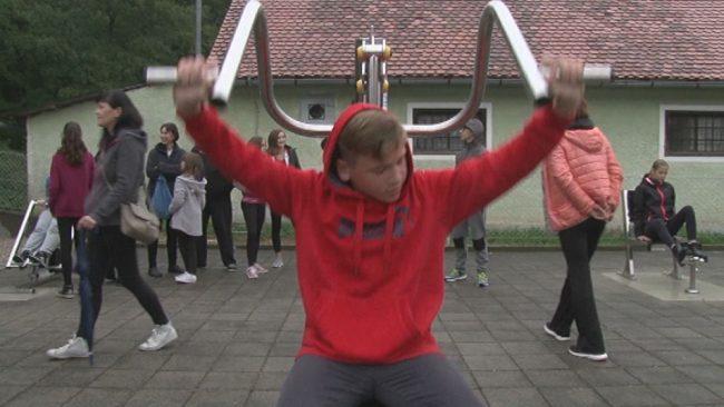 Na Grajeni fitnes na prostem