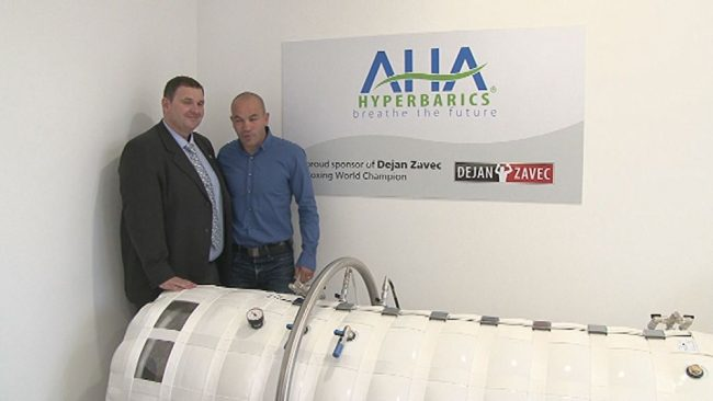 Novi center Dejana Zavca s hiperbarično komoro