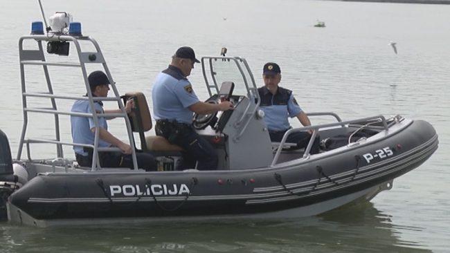 Policijsko preverjanje plovbe na Ptujskem jezeru
