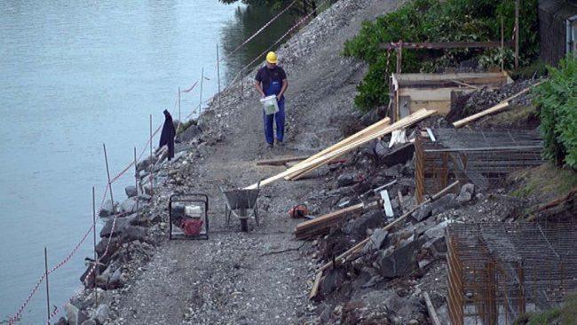 Gradnja vstopno-izstopnega mesta Ribič