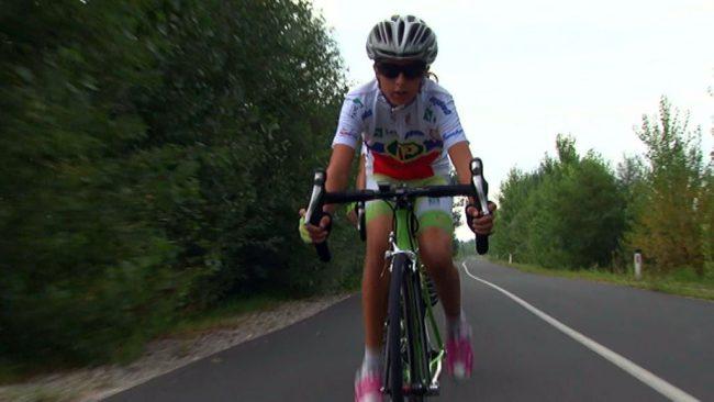Nadarjena mlada kolesarka Hana Jeromel