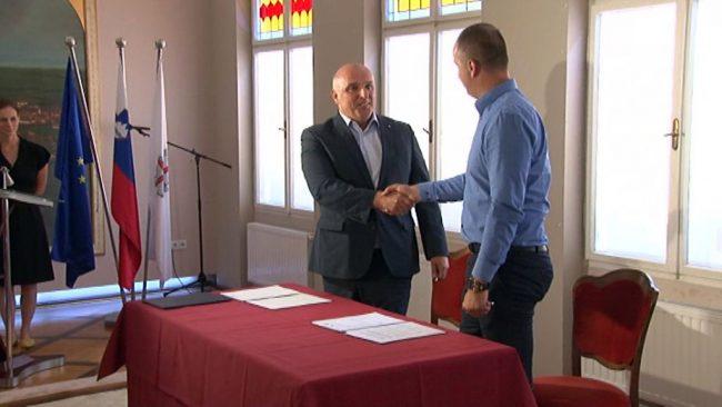 Podpis pogodbe za dela na ptujski tržnici