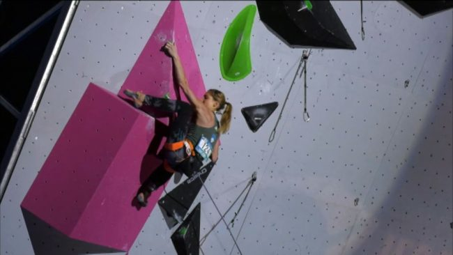 Mina Markovič skupno osma v svetovnem pokalu težavnostnega plezanja