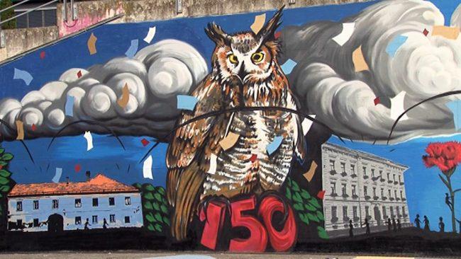 Grafit in talne poslikave ob 150 letnici Gimnazije Ptuj