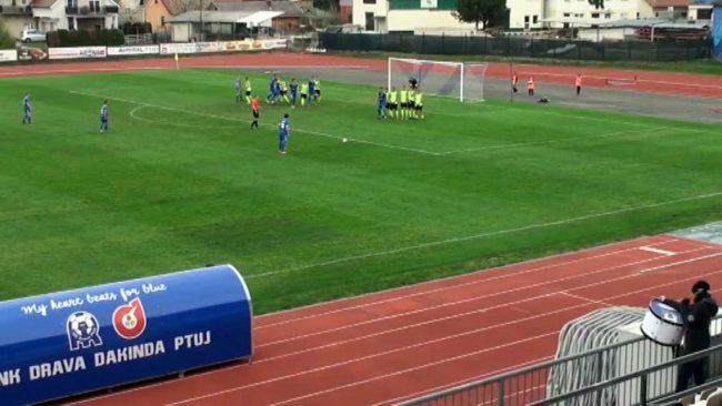 Nepričakovan poraz nogometašev Drave