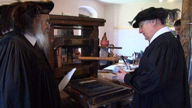 Pod Ptujskim gradom pričela delovati srednjeveška tiskarna
