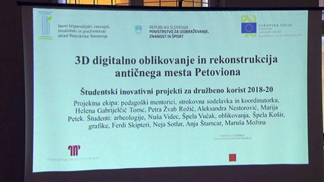 3D digitalno oblikovanje in rekonstrukcija antičnega mesta Petovione!