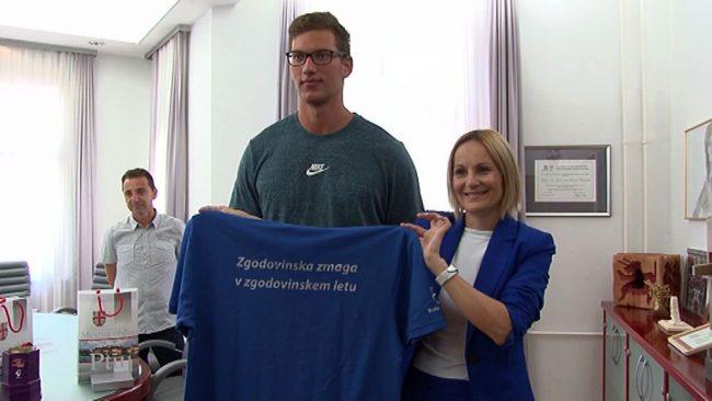 Sprejem evropskega prvaka Kristjana Čeha pri županji Mestne občine Ptuj