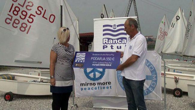 Brodarsko društvo Ranca Ptuj namenilo 550 evrov za projekt Mirno morje