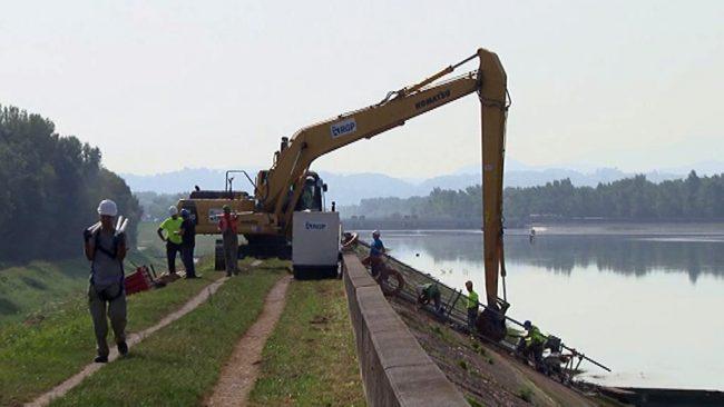 Sanacija naklonskih površin asfaltne obloge Ptujskega jezera
