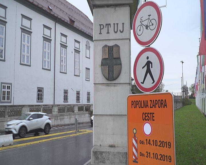 Popolna zapora na podvozu na Ormoški