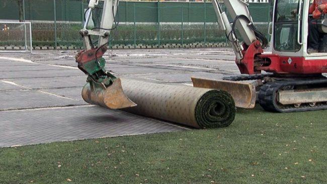 Prenova igrišča z umetno travo na Ptuju
