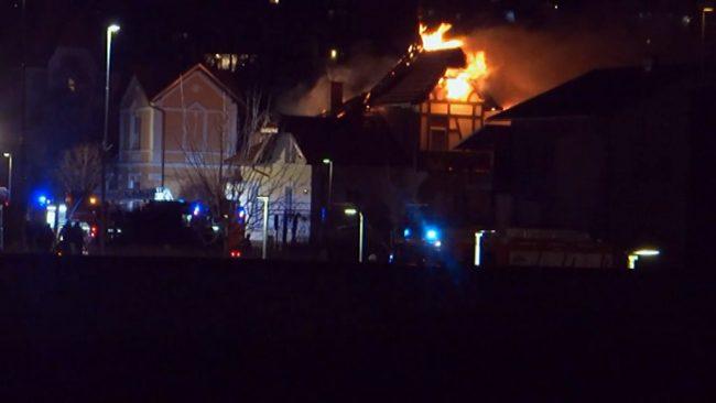 Velik požar na Trubarjevi ulici 2