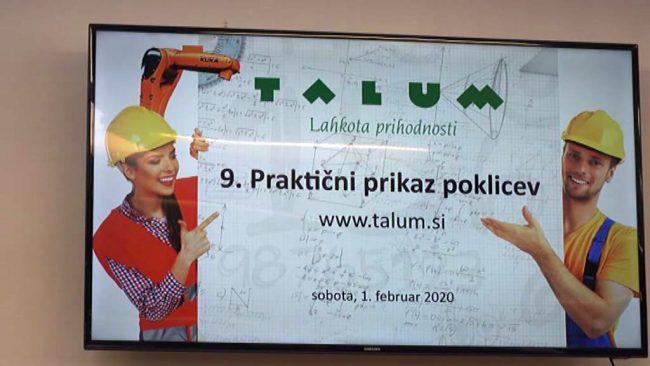 9. Praktični prikaz poklicev v Talumu