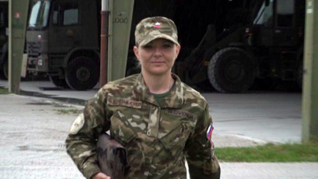 Najboljša vojakinja Slovenske vojske Nina Kostanjevec