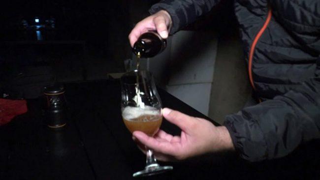 Degustacija piv v rovu pod gradom