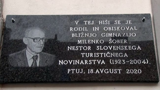 Odkritje spominske plošče Milenku Šobru