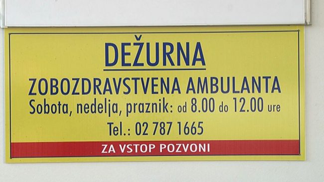 Ponovno vzpostavljena dežurna zobozdravstvena služba za nujne primere