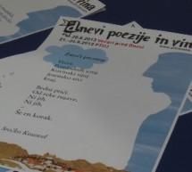 Na novinarski predstavili letošnje Dneve poezije in vina