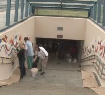 Nadaljevanje akcije pleskanja železniškega podhoda