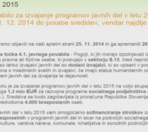 Za javna dela namenjenih dodatnih 8 MIO evrov sredstev