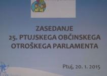25. ptujski občinski otroški parlament