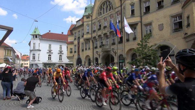 Start kolesarske dirke po Sloveniji je bil na Ptuju