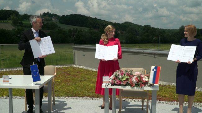 Podpis tripartitnega sporazuma za novogradnjo Žabjak v Mestni občini Ptuj